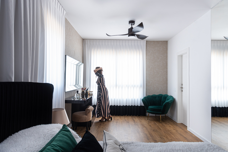 חדר שינה מעוצב / עיצוב חדר שינה / עיצוב דירה / דירה מעוצבת / עיצוב פנים / מיכל שיין / עיצוב וסגנון